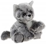 Glitter-Kitty Katzen-Baby graumeliert Plüschtier - 20cm
