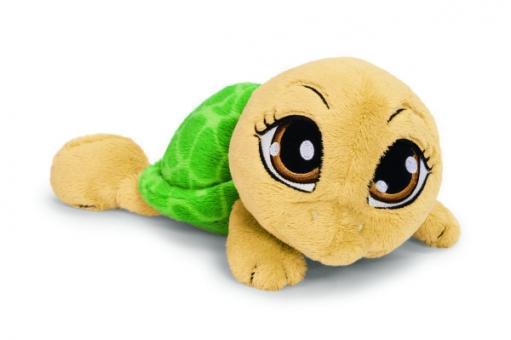 Schildkröte grüngelb liegend - Plüschtier - 25cm