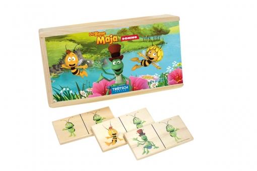 """""""Die Biene Maja"""" Dominospiel aus Holz"""