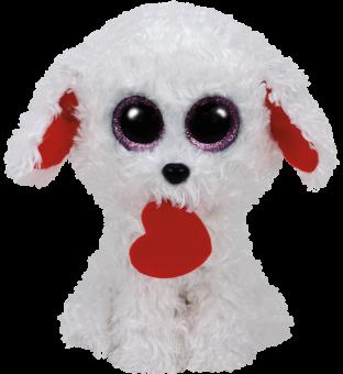 Honey Bun - Hund mit Herz - Beanie Boos - Plüschtier 15cm