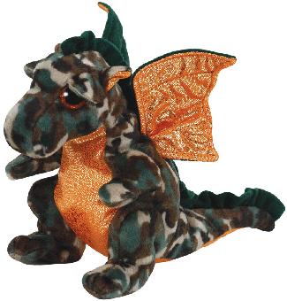 Camouflage - Drache - Beanie Babies - Plüschtier 15cm