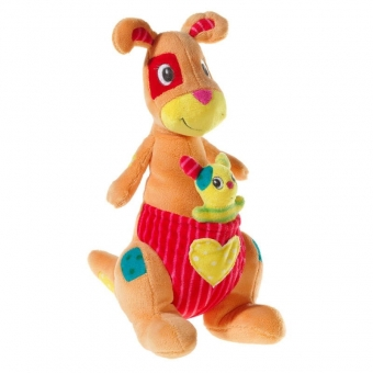 Patchie - Känguru mit Baby - Kuscheltier für Babys - 29cm