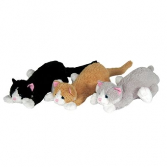 braune Katze liegend - Plüschtier - 24cm