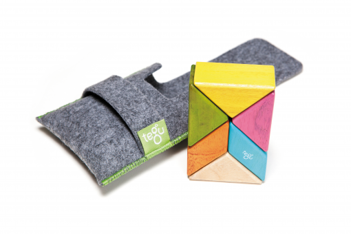 Magnetische Holzbausteine 6-teilig Prism Pocket Pouch - Tints