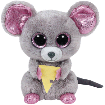 Squeaker - Maus mit Käse - Beanie Boos - Plüschtier 15cm