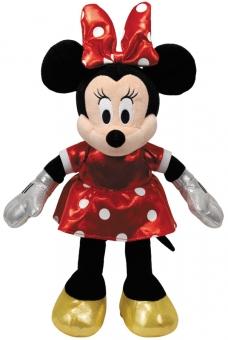 Minnie Glitter rot mit Soundchip - Plüschtier 30cm